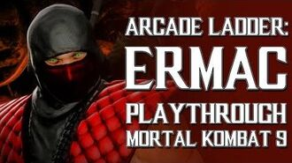 Mortal Kombat 9 (PS3) - Arcade Ladder Ermac Playthrough Gameplay