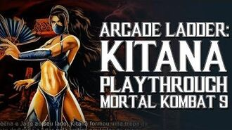 Mortal Kombat 9 (PS3) - Arcade Ladder Kitana Playthrough Gameplay