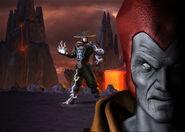Shinnok and Raiden