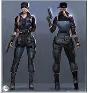 Mortal Kombat X MKX Concept Art MN Sonya 02