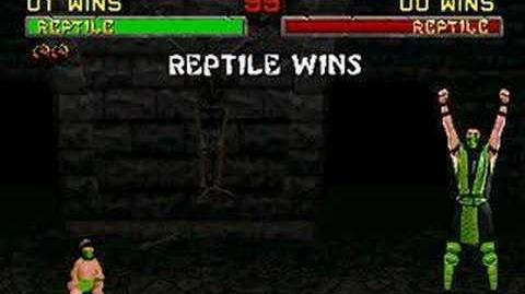 Mortal Kombat II - Babality - Reptile
