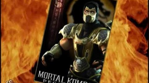 HQ Mortal Kombat Deception - Scorpion Trading Card