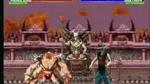 Mortal Kombat Armageddon Kintaro's Kombat Card