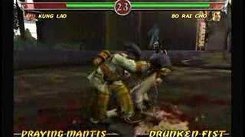 Mortal Kombat Bo Rai Cho Trading Card