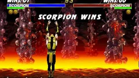 Ultimate Mortal Kombat 3 - Stage Fatality - Scorpion's Lair-0