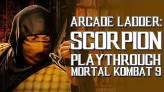 Mortal Kombat 9 (PS3) - Arcade Ladder Scorpion Playthrough Gameplay