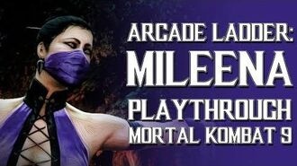 Mortal Kombat 9 (PS3) - Arcade Ladder Mileena Playthrough Gameplay
