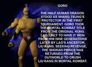 Goro bio