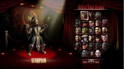 Mortal Kombat 9 Select King of the Hill Avatar All