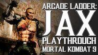 Mortal Kombat 9 (PS3) - Arcade Ladder Jax Playthrough Gameplay