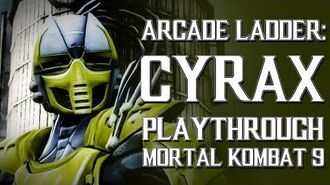 Mortal Kombat 9 (PS3) - Arcade Ladder Cyrax Playthrough Gameplay