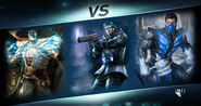 Raiden, Captain Cold & Sub-Zero Injustice 2