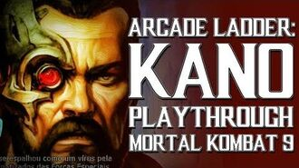 Mortal Kombat 9 (PS3) - Arcade Ladder Kano Playthrough Gameplay