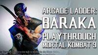 Mortal Kombat 9 (PS3) - Arcade Ladder Baraka Playthrough Gameplay