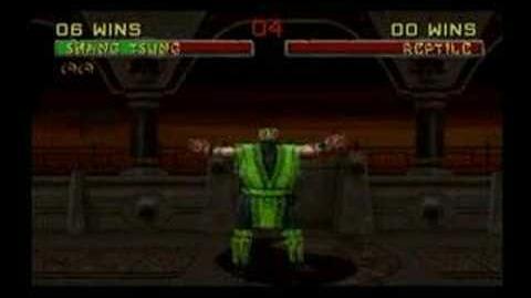 Mortal Kombat Shang Tsung Trading Card