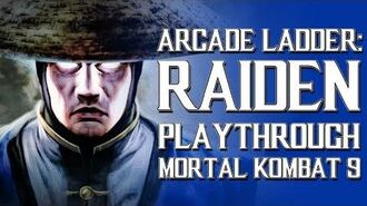 Mortal Kombat 9 (PS3) - Arcade Ladder Raiden Playthrough Gameplay