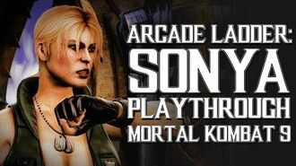 Mortal Kombat 9 (PS3) - Arcade Ladder Sonya Playthrough Gameplay