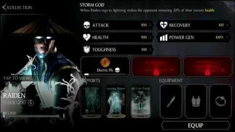 MKX Mobile Raiden Character Breakdown