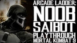 Mortal Kombat 9 (PS3) - Arcade Ladder Noob Saibot Playthrough Gameplay