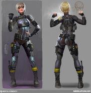 Mortal Kombat X MKX Concept Art MN Cassie Revisions 03