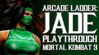 Mortal Kombat 9 (PS3) - Arcade Ladder Jade Playthrough Gameplay