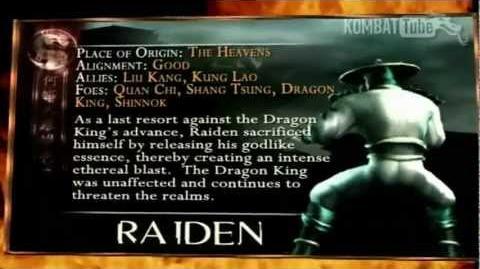 Mortal Kombat-Raiden Bio Kard