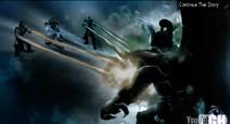 Onaga vs Shang Tsung, Quan Chi and Raiden