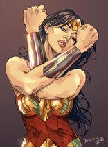 Wonder Woman color by bauriema