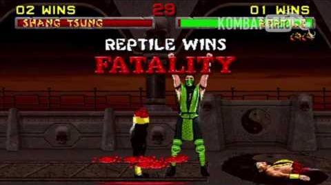 "MK II Reptile ""Hidden Slice"" Fatality"
