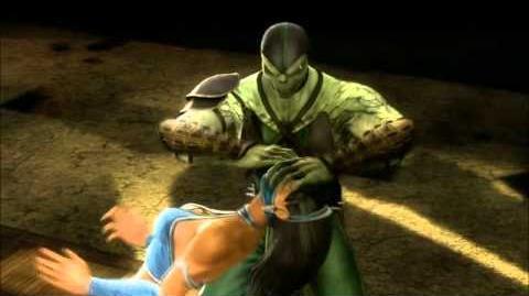 Mortal Kombat 9 (2011) Reptile Fatality 1! HD