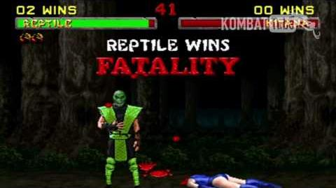 "MK II Reptile ""Head Eat"" Fatality"