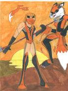 Mortal kombat oc fox by foowd