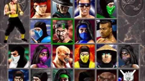 Secret Mortal Kombat 2 Character Select Screen