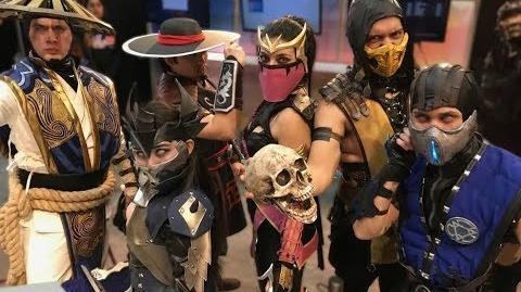 Mortal Kombat X -THE BEST COSPLAY -RAIDEN, SCORPION ,SUB-ZERO, MILEENA ,KITANA REVENANT, KUNG LAO