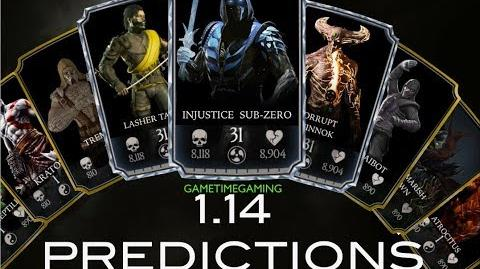MKX MOBILE 1.14 UPDATE NEW CHARACTER PREDICTIONS!