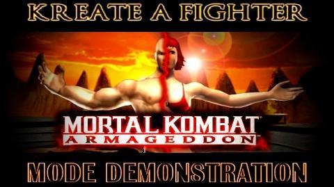 MK Armageddon - Kreate a Fighter Mode Demonstration - Демонстрация режим создания бойца