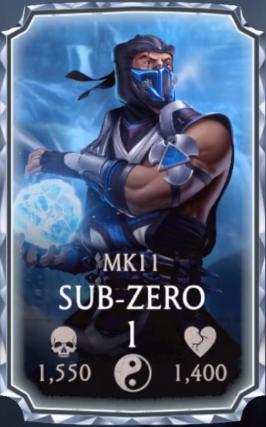 Sub Zero Mk11 Mortal Kombat Mobile Wikia Fandom