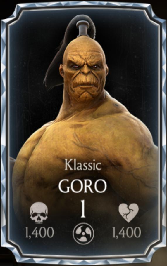 Goro/Klassic | Mortal Kombat Mobile Wikia | FANDOM powered
