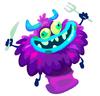 Purple Monster Chef Hat