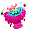 Pink Monster Chef Hat