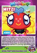 Mitzi collector card