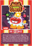 Collector card magnificent moshi circus dr. c. fingz
