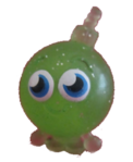 Cherry Bomb figure glitter green