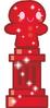Red Glittery Hansel