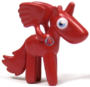 Angel figure bauble red