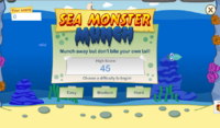 Sea Monster Munch gameplay start