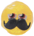 Mustachio figure glitter yellow