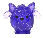 Squidge figure glitter purple
