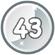 Level 43 icon