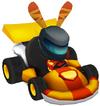 Moshi Karts helmet blue blaze